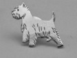 West Highland White Terrier pin guld