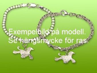 Basenji hängsmycke till armband - Silver