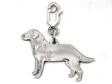 Labrador Retriever hängsmycke till armband silver