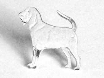 Blodhund pin - Silver