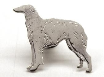 Borzoi pin - Silver