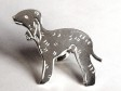 Bedlingtonterrier pin silver