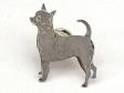 Chihuahua, korthårig pin silver