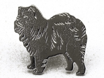 Chow Chow pin - Silver