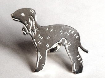 Bedlingtonterrier pin - Silver