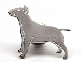 Bullterrier pin - Silver