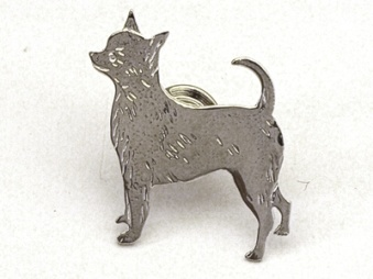 Chihuahua, korthårig pin - Silver