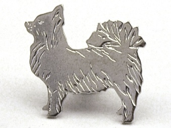 Chihuahua, långhårig pin - Silver