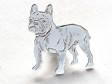 Fransk Bulldogg pin silver