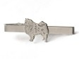 Keeshond slipsnål silver