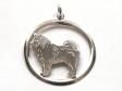 Lapphund hängsmycke med cirkel silver