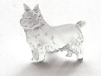 Norwichterrier pin silver