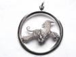 Afghan hängsmycke med cirkel silver