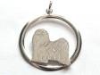 Tibetansk Terrier hängsmycke med cirkel