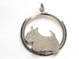 Skotsk Terrier hängsmycke med cirkel