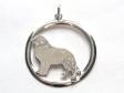Pyrenéerhund hängsmycke med cirkel