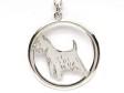 West Highland White Terrier hängsmycke med cirkel