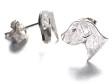 Jack Russell Terrier örhänge huvud par silver
