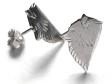 Japansk Spets örhänge huvud par silver