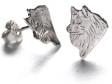 Lapphund örhänge huvud par silver