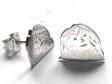 Bichon Havanais örhänge huvud par silver