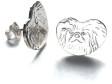 Pekingese örhänge huvud par
