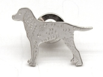 Curly Coated Retriever pin - Silver