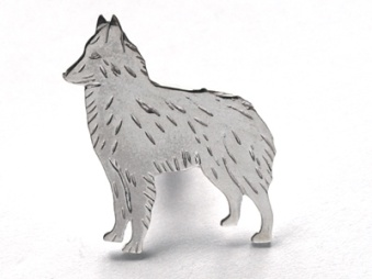 Belgisk Vallhund pin - Silver
