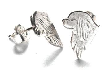 Cavalier King Charles Spaniel örhänge huvud par - Silver