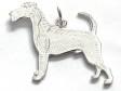 Irländsk Terrier hängsmycke silver