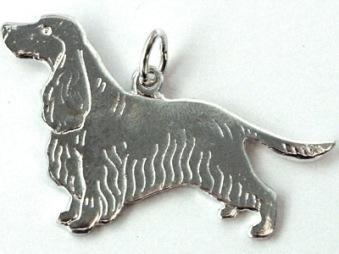 Cocker Spaniel hängsmycke - Silver Ny