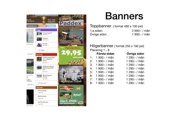 prislista ridguiden, banners