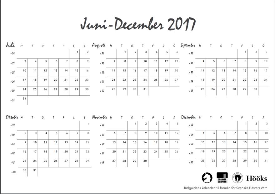 ridguidens kalender 2018, sid 3
