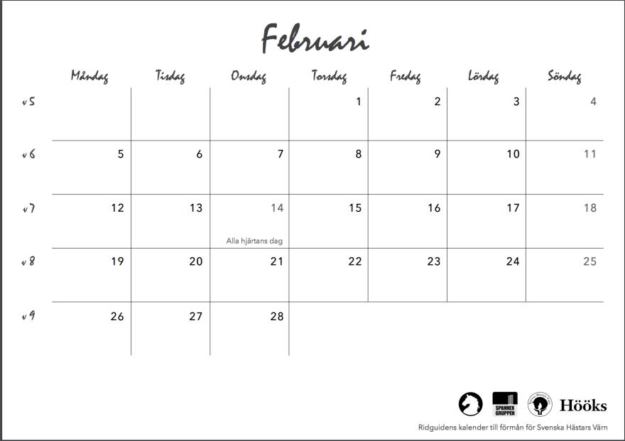 ridguidens kalender 2018, sid 7