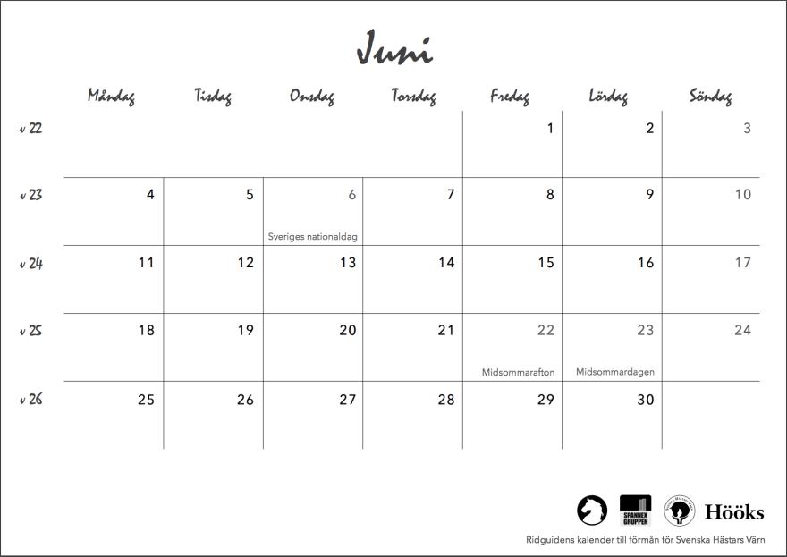 ridguidens kalender 2018, sid 15