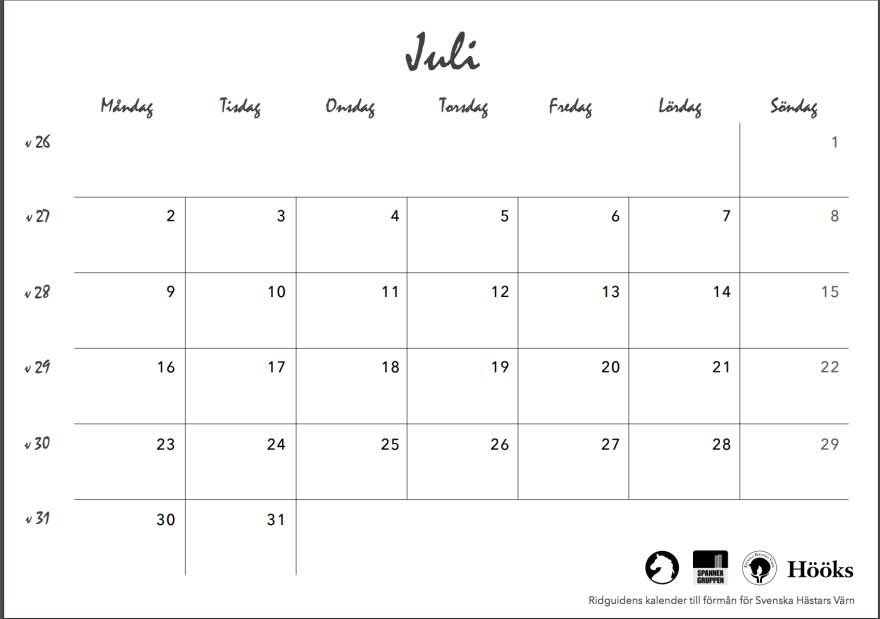 ridguidens kalender 2018, sid 17