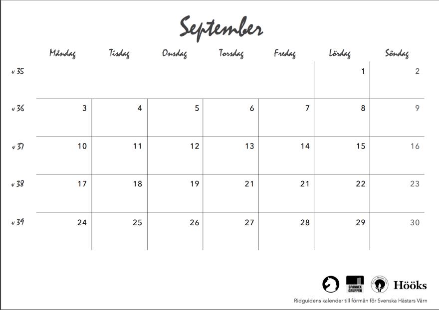 ridguidens kalender 2018, sid 21