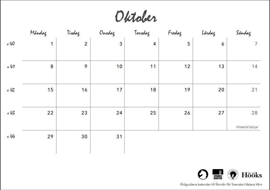 ridguidens kalender 2018, sid 23
