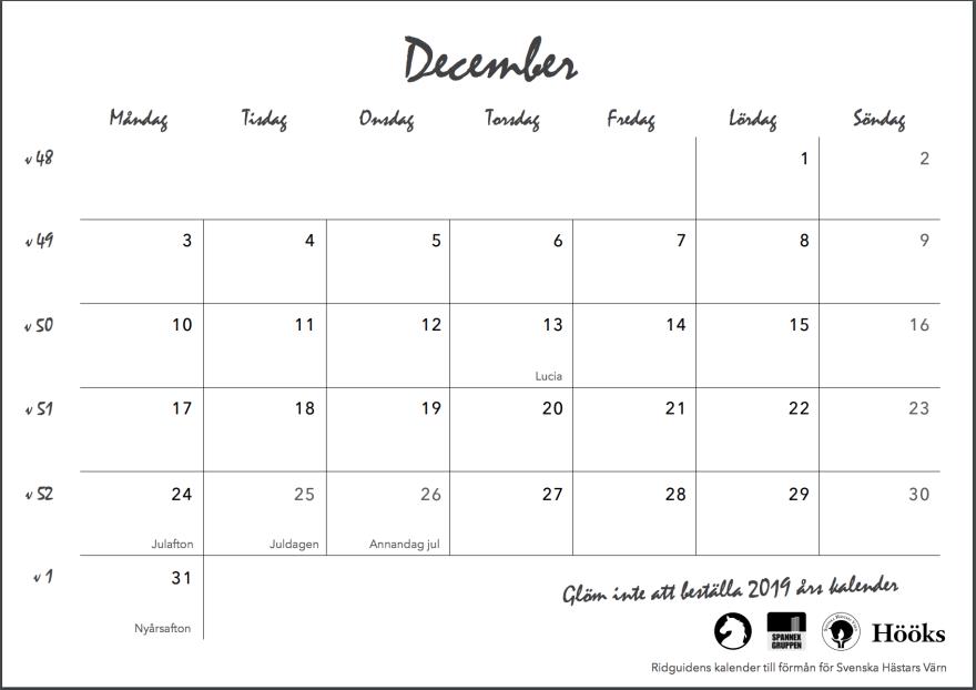 ridguidens kalender 2018, sid 27