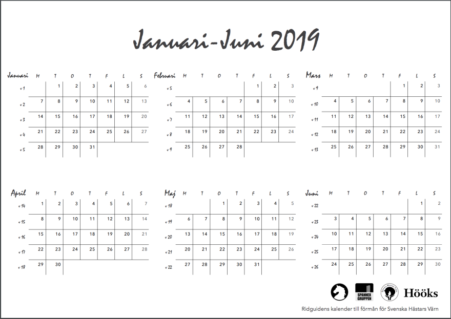ridguidens kalender 2018, sid 29