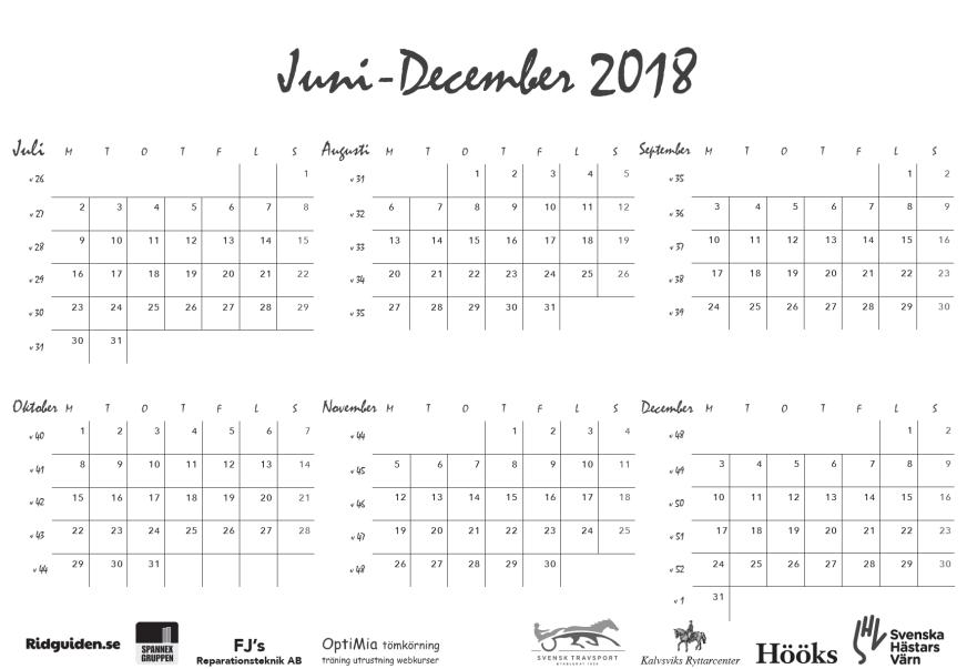 ridguidens kalender 2019, sid 3