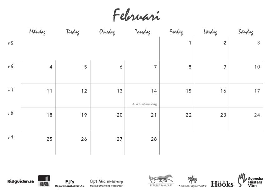 ridguidens kalender 2019, sid 7