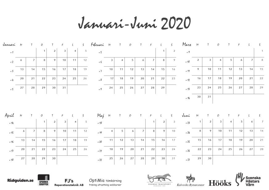 ridguidens kalender 2019, sid 28