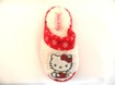 Q-Sko Innetoffel Hello Kitty Vit/Röd