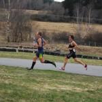 Swahn och Honig under första löpningen