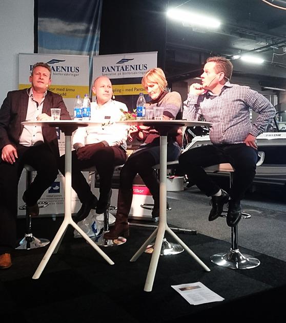 Urban Lagnéus, Sebastian Christensen, Lena Having och Magnus Lundgren. Bild: Göran Bäckström
