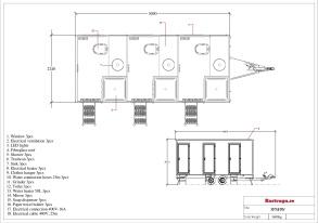 Dusch / Toalettvagn 3P - Kvarn