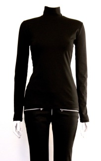NOIR TURTLENECK TOP - NOIR TURTLENECK TOP black small