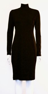 NOIR-TURTLENECK-DRESS - NOIR-TURTLENECK-DRESS BLACK SMALL