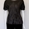 CRINKLED SILK T-SHIRT - CRINKLED SILK T-SHIRT BLACK LARGE